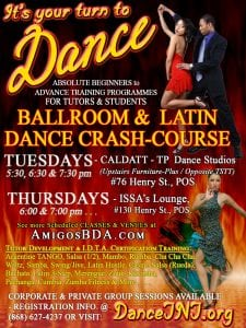 CRASH-COURSE (CC) Programme - Ballroom & LATIN Dances @ CALDATT POS Central Studios (Upstairs Furniture Plus) - #76 Henry Street, POS. | Port of Spain | Port of Spain Corporation | Trinidad and Tobago