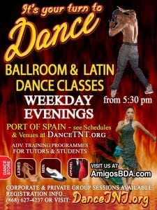 Ballroom & Latin Dance Classes @ CALDATT POS Central Studios (Upstairs Furniture Plus) - #76 Henry Street, POS. | Port of Spain | Port of Spain Corporation | Trinidad and Tobago