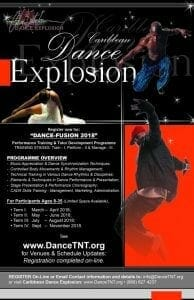 "Dance Explosion ""Dance-Fusion"" Training Programme @ CALDATT POS Central Studios (Upstairs Furniture Plus) - #76 Henry Street, POS. | Port of Spain | Trinidad & Tobago"