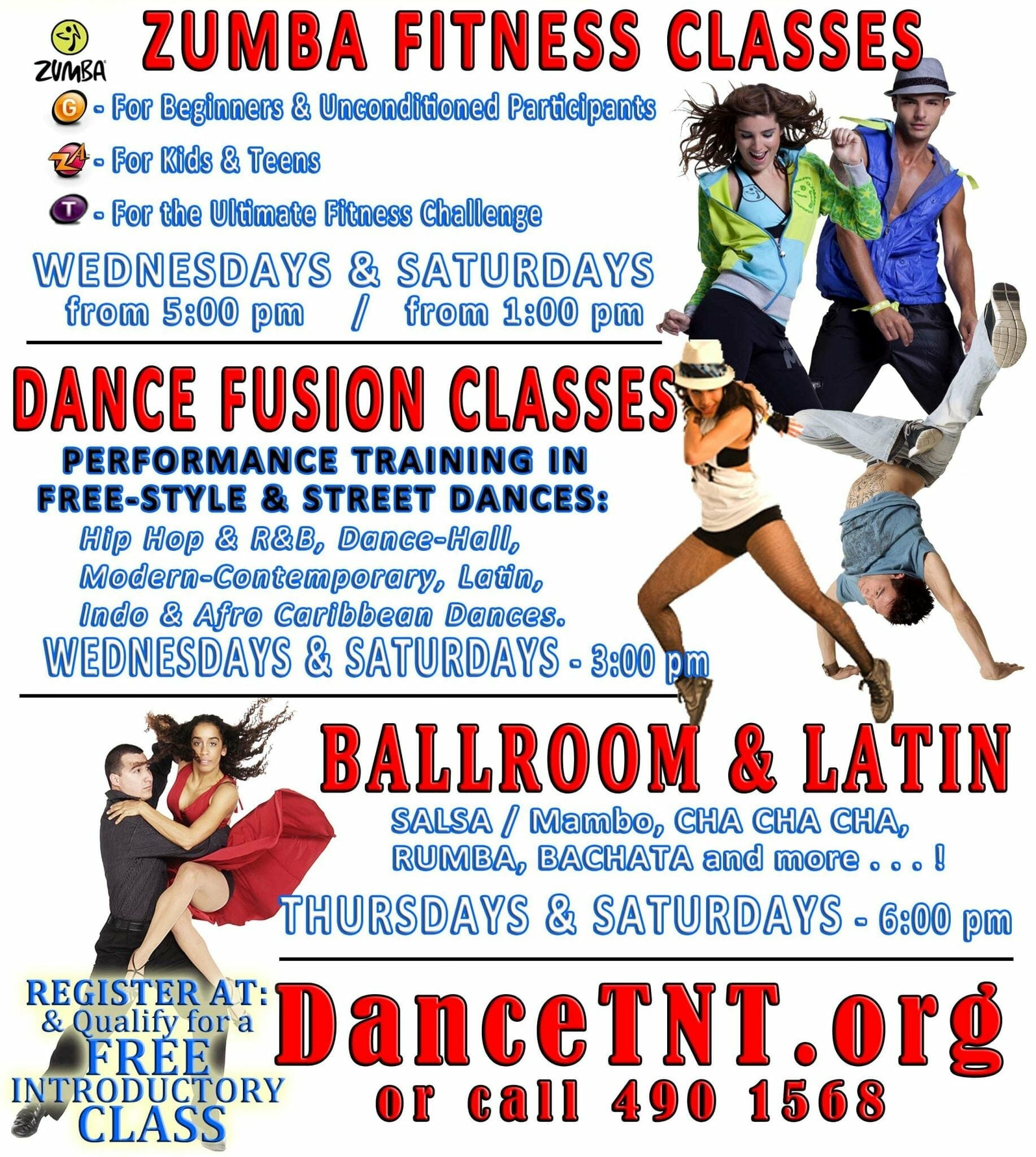 Dance-Fusion, Free-Style, Latin & Shape-Fit DancerSize Classes